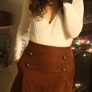 Express brown mini skirt